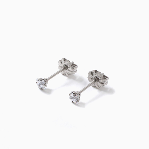 スワロフスキー 純チタン PURETITANIUM MARE マーレ  ピアス 3mm ダイヤモンド カラー 4508-TZ21