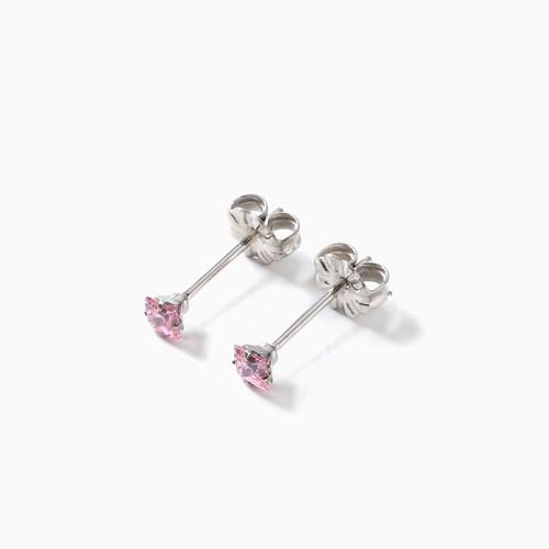 スワロフスキー 純チタン PURETITANIUM MARE マーレ  ピアス 3mm ピンク・ダイヤモンド カラー 4509-TZ21
