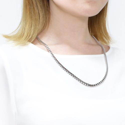 MARE(マーレ) 純チタン PURETITANIUM ボックス・ベネチアン ネックレス  60cm 男女兼用 4515-TZ21