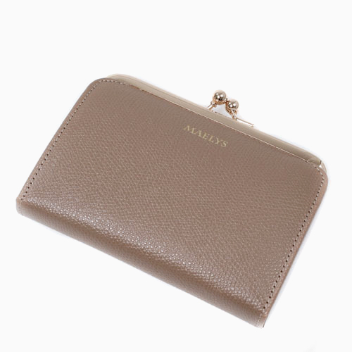 レザー がま口 二つ折り財布  オーク 二つ折り 小銭入れ 4585-MZ21