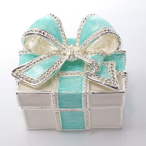 ミニジュエリーケース 宝石箱 マーメイドブルー リボン プレゼント 5012-JC15