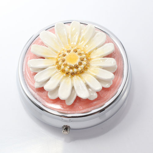 ミニジュエリーケース ピルケース 小物入れ 花 マーガレット 5016-JC15