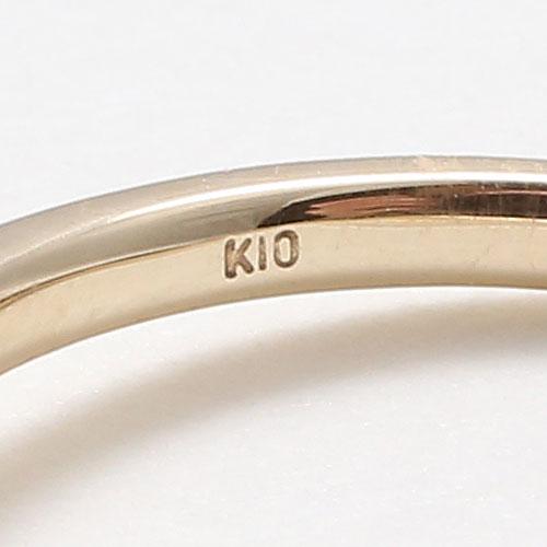 10金 イエローゴールド 淡水パール フォークリング フリーサイズ 5026-RG15