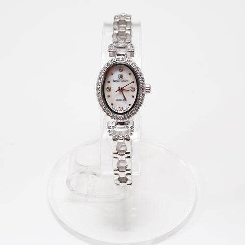 腕時計 オーバル ジュエリー ウォッチ Royal Crown 5029-WL15