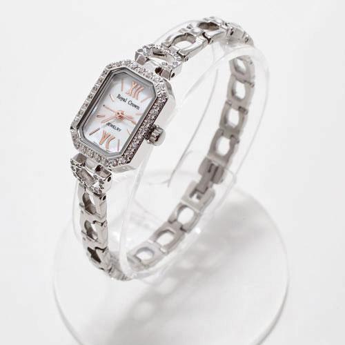 腕時計 スクエア ジュエリー ウォッチ Royal Crown 5032-WL15