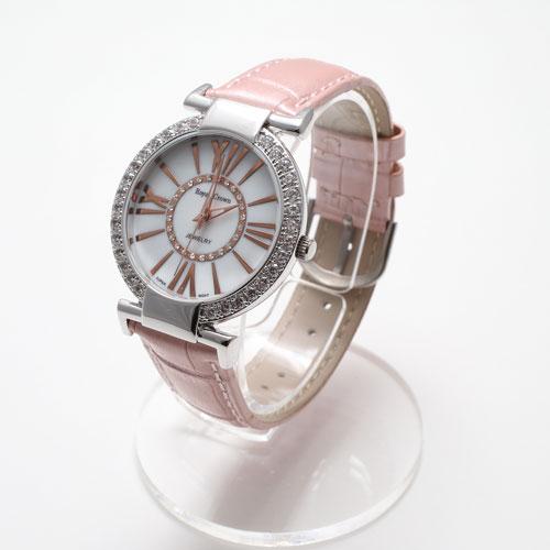 腕時計 革ベルト ピンク ウォッチ Royal Crown ジュエリー 5034-WL15