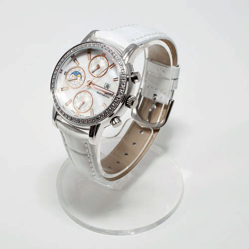 腕時計 ホワイト 牛革 ベルト ジュエリー ウォッチ 5035-WL15