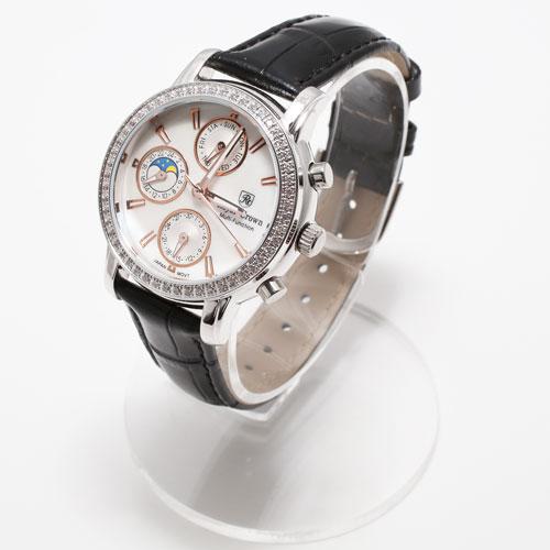 腕時計 ブラック 牛革 ベルト ジュエリー ウォッチ 5036-WL15