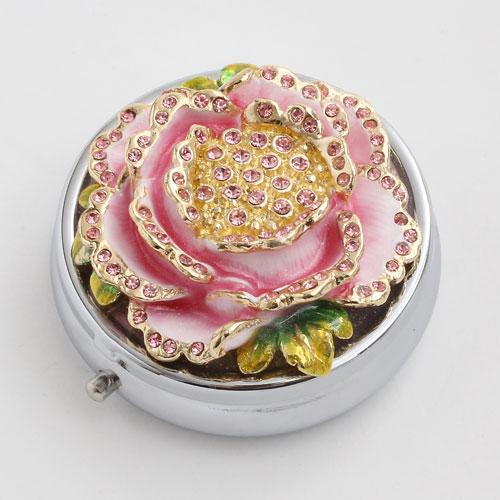 ミニジュエリーケース ピルケース 小物入れ 花 牡丹(ボタン)5月 5136-JC16