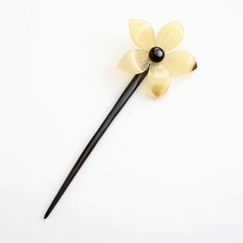 水牛 かんざし(簪) 天然素材 アイボリー (一輪の花/大) 5235-HR16