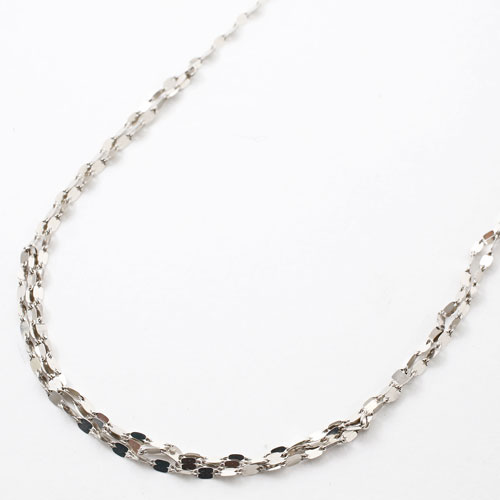 純プラチナ グラデーション ネックレス ペダル チェーン 胸元3連 Pt999 5304-NP16
