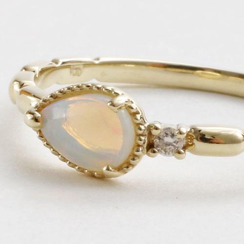 18金/K18 リング/指輪 イエローゴールド  ダイヤモンド オパール #11 5325-RG16