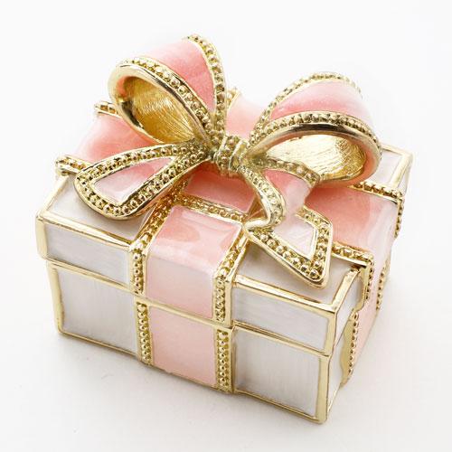 ミニジュエリーケース 宝石箱 ベリーピンク リボン プレゼント 5353-JC16