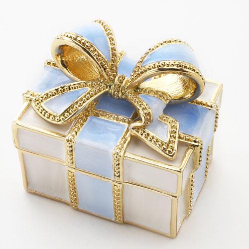 ミニジュエリーケース 宝石箱 ブルーシャーベット リボン プレゼント 5354-JC16