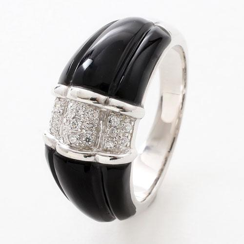 シルバー タイ製 指輪 オニキス ジルコニア 天然石 リング 5444-RS17