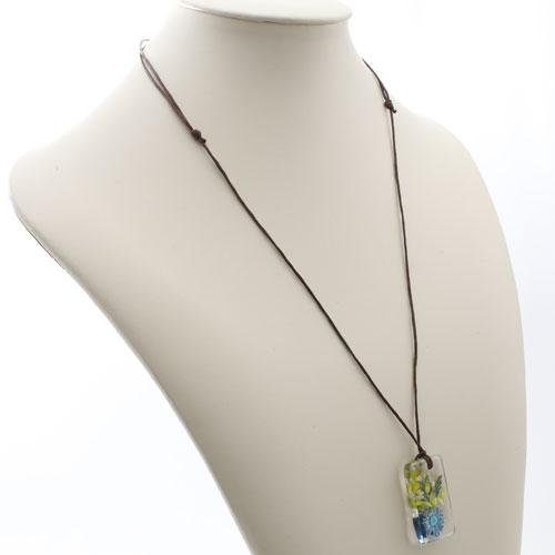 タイ製 レジン アクセサリー  ハンドメイド フラワー(ブルー)  5488-RF17