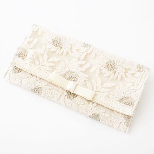 袱紗 フラワー レース 金封ふくさ 結婚式 ホワイト 5581-MZ18