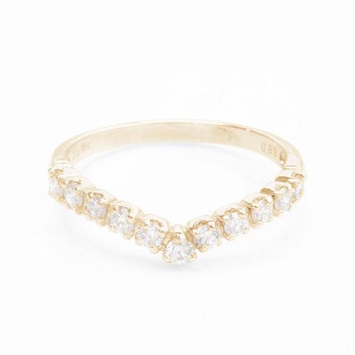 受注生産 18金/K18 リング/指輪 ダイヤモンド マリッジ/婚約 イニシャル 5619-UK18