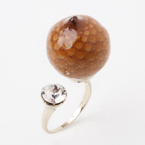 日本製 ラタン 木の実 リング/指輪 アクセサリー 5622-LL18