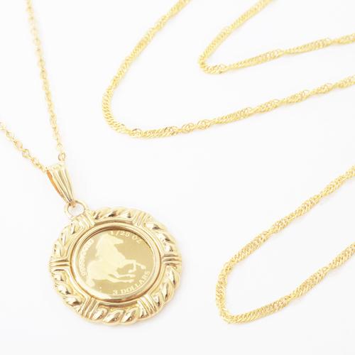 福袋 2020年 純金 ホースコイン&スクリューチェーン 合計2点 6013-XS20