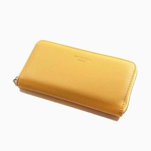 イタリア製 Sani Gualtiero レザー 長財布 ウォレット 男女兼用 イエロー 7788-SG21