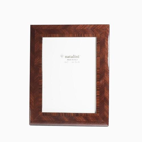 イタリア製 ナタリーニ NATALINI 写真立て フォトフレーム 写真入れ 天然素材 木製 ベルガモグリーン ブラウン  インテリア 7795-NL21