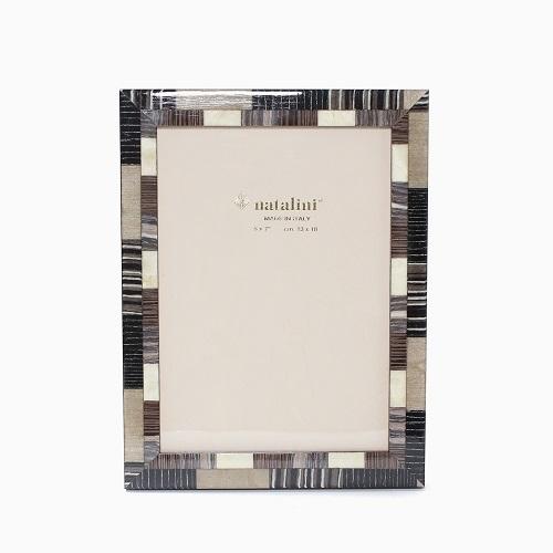 イタリア製 ナタリーニ NATALINI 写真立て フォトフレーム 写真入れ 天然素材 木製 ベルガモ グレー ブラウン インテリア 7798-NL21