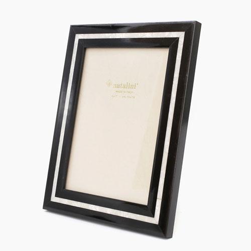 イタリア製 ナタリーニ NATALINI 写真立て フォトフレーム 写真入れ 天然素材 木製 ベルガモ 白蝶貝 ネロ 7808-NL20