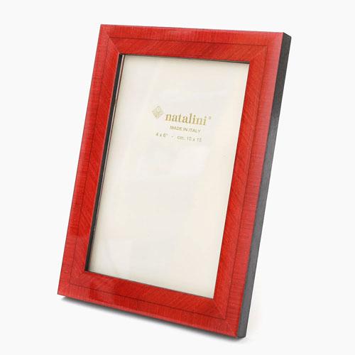 イタリア製 ナタリーニ NATALINI 写真立て フォトフレーム 写真入れ 天然素材 木製 ベルガモ レッド 赤 7814-NL20