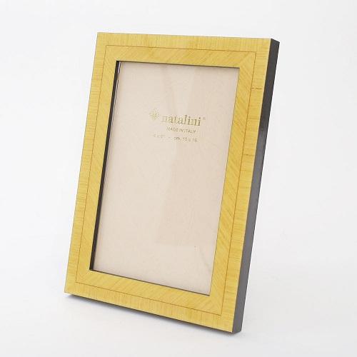 イタリア製 ナタリーニ NATALINI 写真立て フォトフレーム 写真入れ 天然素材 木製 ベルガモ 黄色 イエロー  7815-NL20
