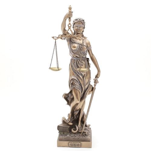 イタリア製 <Lady Justice>正義の女神 ブロンズ像 7851-FG20