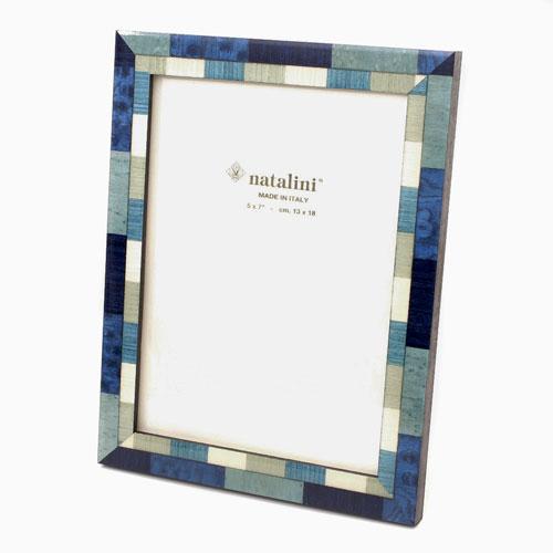 イタリア製 ナタリーニ NATALINI 写真立て 天然素材 木製 ベルガモグリーン ブルー インテリア ベルデ 7862-NL20