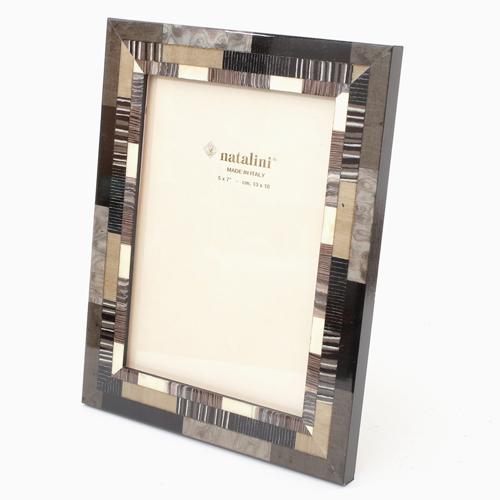 イタリア製 ナタリーニ NATALINI 写真立て フォトフレーム 写真入れ 天然素材 木製 ベルガモ グレー 灰色 インテリア 7869-NL20