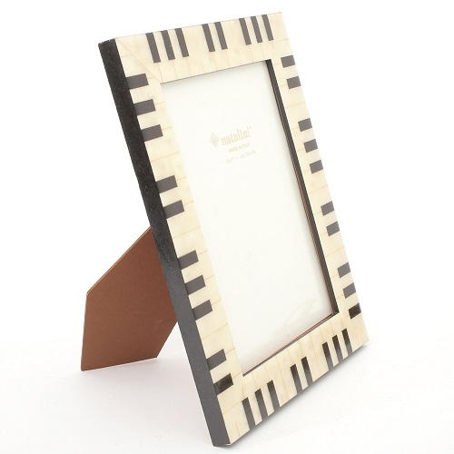イタリア製 ベルガモ 天然素材 木製 フォトフレーム(ピアノ) 7872-NL20
