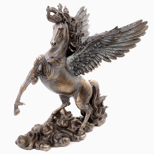 イタリア製 <Pegasus>ペガサス 天馬 天空 ブロンズ像 7896-FG20