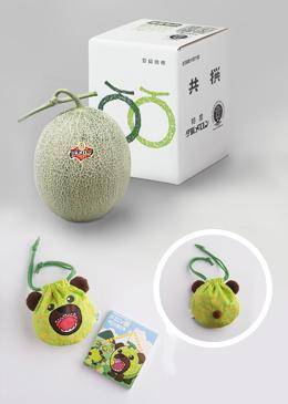 夕張メロン 良品1玉&メロン熊グッズセット【送料込み】