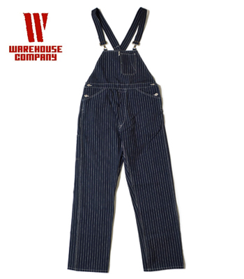 WAREHOUSE BIB OVERALL STRIPE