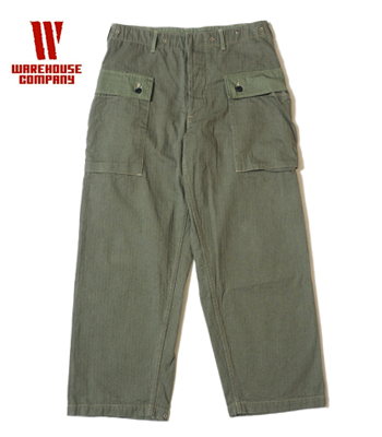 WAREHOUSE USMC HERRINGBONE MONKEY PANTS