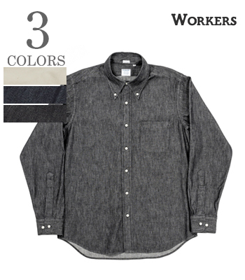WORKERS Modified Denim Button Down Shirt