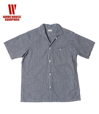 WAREHOUSE ギンガムチェック小 OPEN COLLAR SHIRTS