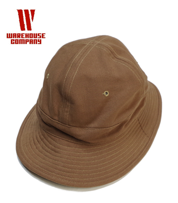 WAREHOUSE ウエアハウス BROWN DUCK ARMY HAT