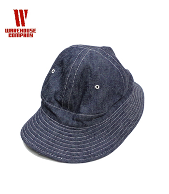 WAREHOUSE INDIGO HERRINGBONE ARMY HAT