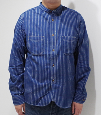 STUDIO D'ARTISAN WABASH BAND COLLAR SHIRT
