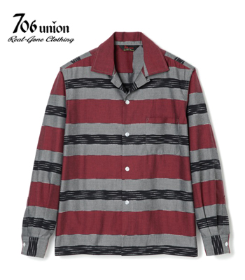 706UNION J-BORDER L/S OPEN SHIRT