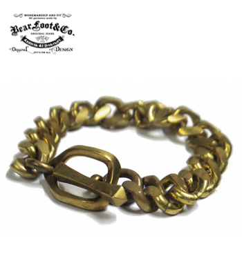 BEAR FOOT BRASS BRACELET