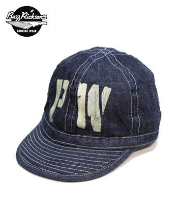 "BUZZ RICKSON'S ARMY DENIM CAP ""PW"" STENCIL"