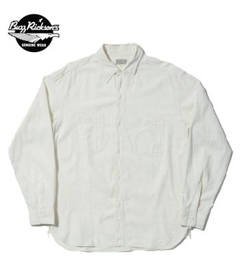 BUZZ RICKSON'S バズリクソンズ 長袖|シャンブレー|ワークシャツ『WHITE CHAMBRAY WORK SHIRT』【アメカジ・ミリタリー】BR25996