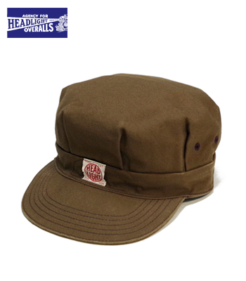 HEAD LIGHT 13oz. BROWN DUCK WORK CAP