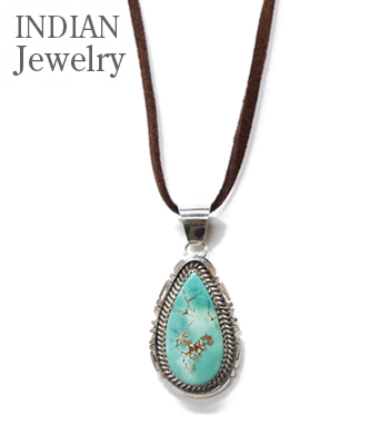 INDIAN JEWELRY NAVAJO PENDANT    TURQUOISE