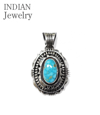 INDIAN JEWERY NAVAJO PENDANT Turquoise Mt